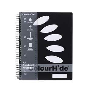 ColourHide 5-Subject Notebook A4 250 Page
