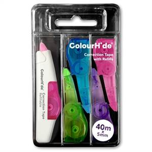 ColourHide® My never-ending* (refillable) correction tape 40m (4 x refills) - main image